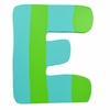 Green & Blue Stripe Wall Letter - E