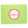 Green Bottlecap Stripe Personalized Cutting Board