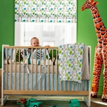 Green Boys Crib Bedding