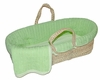 Green Cable Knit Moses Basket Set