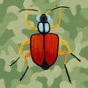 Green Camo Bug Canvas Wall Art