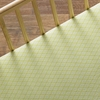 Green Diamond Crib Sheet