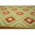 Green Diamonds Baja Rug