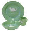Green Dinosaur Character Personalized Ceramic Dish Collection