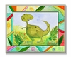 Green Dinosaur Wall Plaque