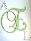Green & Dotted Glitter Wall Monogram