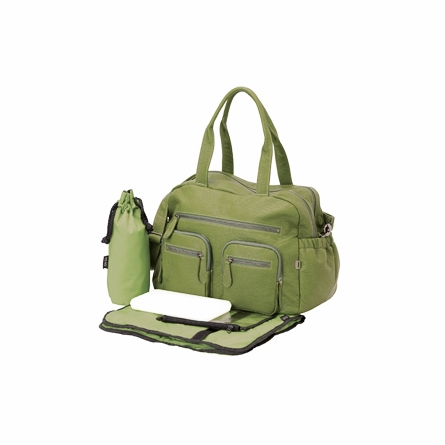 Green Faux Buffalo Carry All Diaper Bag