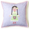 Green Girl Pillow