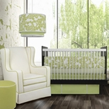 Green Girls Crib Bedding