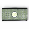 Green Greek Key Monogram Wallet