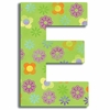 Green Modern Flower Wall Letter