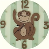 Green Monkey Wall Clock