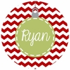 Green Ornament Personalized Melamine Plate
