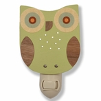 Green Owl Night Light