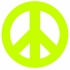 Green Peace Sign and Polka Dots Wall Sticker