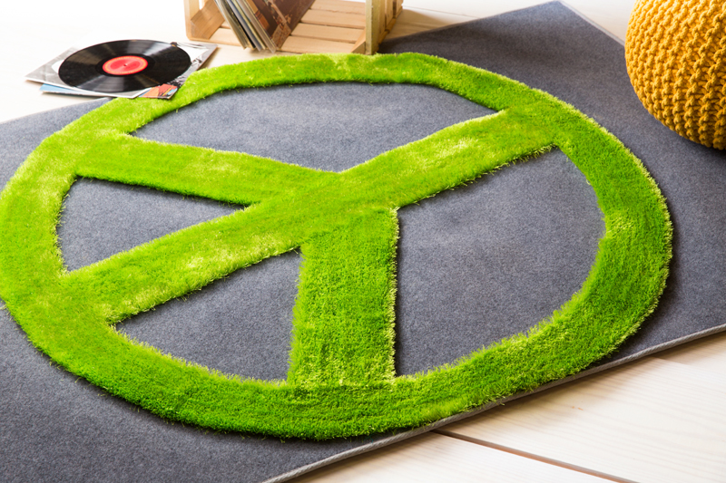 Green Peace Sign Rug By Surya Rosenberryrooms Com