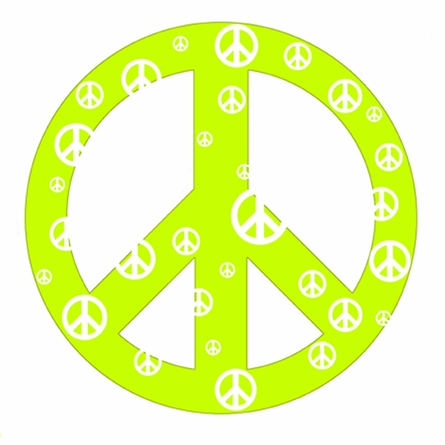 Green Peace Sign Wall Sticker