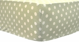 Green Polka Dot Crib Sheet $(+40.00)