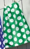 Green Polka Dot Towel Wrap
