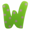 Green Polka Dot Wall Letter - W