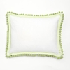 Green Pom Pom Decorative Pillow