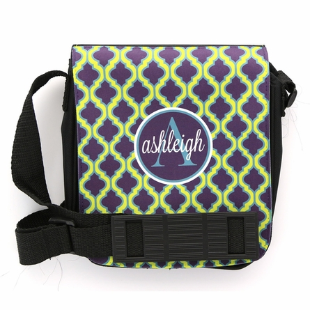 Green Quatrefoil Monogram Sling Bag