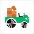 Green Tractor Canvas Wall Art
