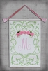 Green Tree Shabby Rose Hand Painted Wall Hanging