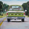 Green Truck Canvas Reproduction