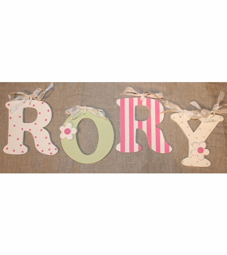 Green Wooden Mix & Match Wall Letter