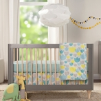Grey and Washed Natural Lolly Convertible Crib