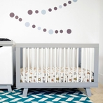 Grey and White Hudson Convertible Crib