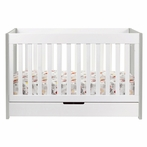 Grey and White Mercer Convertible Crib