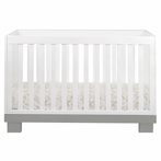 Grey and White Modo Convertible Crib