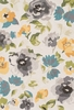 Grey and Yellow Floral Francesca Rug
