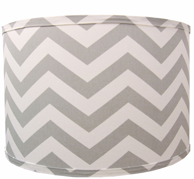 Grey Chevron Lamp Shade By Doodlefish Rosenberryrooms Com
