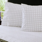 Grey Dot Grid Sheet Set