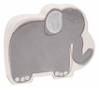 Grey Elephant on White Coin Bank