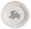 Grey Elephant on White Personalized Ceramic Dish Collection
