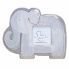 Grey Elephant Silhouette Personalized Ceramic Picture Frame