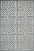 Grey Greek Circle Bliss Rug