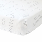 Grey Jardin Crib Sheet