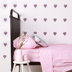 Grey & Pink Diamonds Wall Decals