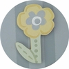 Grey Spring Flower Drawer Knob