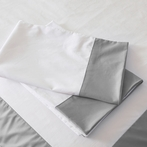 Grey Windowpane Pillowcase Set