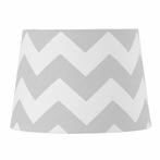Grey Zig Zag Lamp Shade