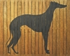 Greyhound Vintage Slatted Frame Wall Plaque