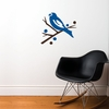 Grosbeak Bird in Blue Wall Decal
