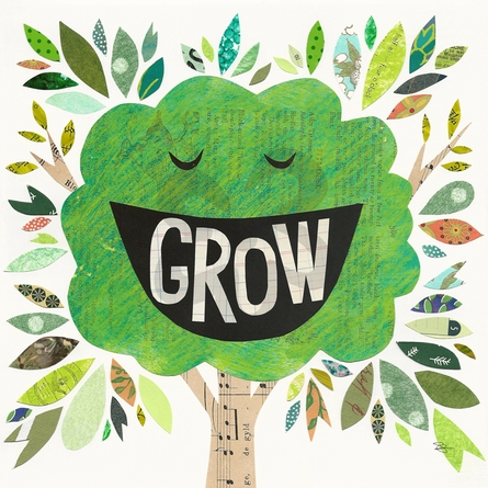 Grow Grin Canvas Wall Art