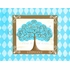Grow Tree Turquoise Canvas Wall Art